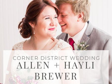 Corner District Wedding Photos, Allen + Hayli Brewer | Hello Jude Photography