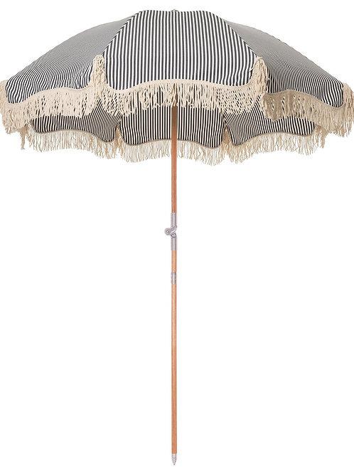 Business & Pleasure Co. - Premium Beach Umbrella - Lauren's Stripe Navy - 6'W x