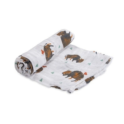 Little Unicorn - Cotton Muslin Swaddle - Bison