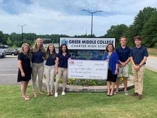CBL Foundation Donates $5,000 to Greer Middle College Charter High