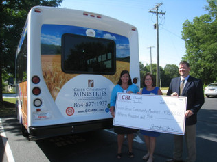 CBL Charitable Foundation Grant Helps GCM Purchase a New Bus for Senior Diners.