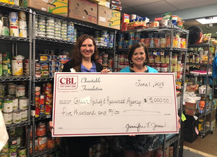 CBL Charitable Foundation Donates $5,000 To Greer Relief & Resources Agency, Inc.