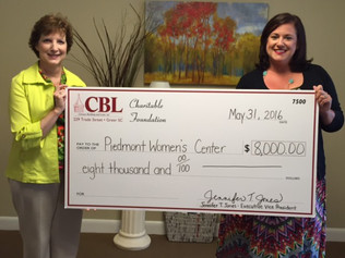 CHARITABLE FOUNDATION DONATES $8,000 TO PIEDMONT WOMEN'S CLINIC.