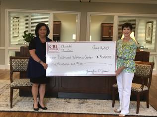 CBL Charitable Foundation Donates $5,000 To Piedmont Women's Center