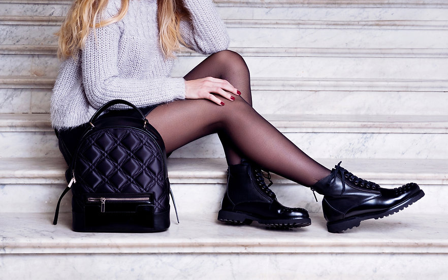 Model with Black Boots