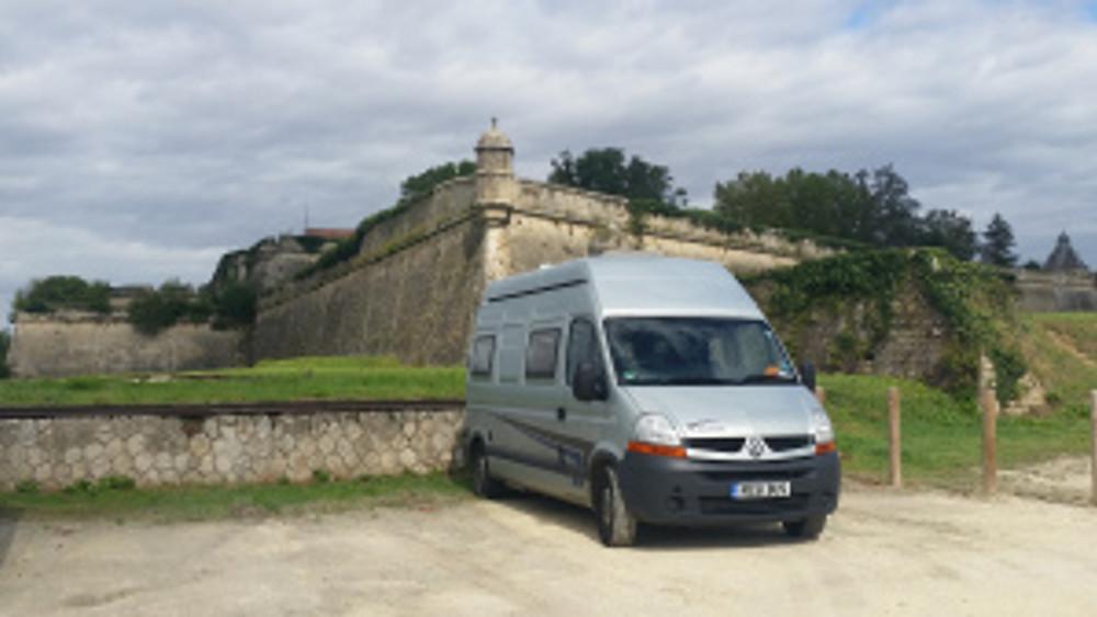 Boris at the citadel at Blaye.