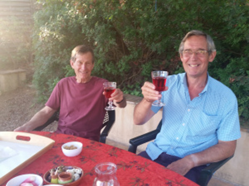 Two manly guys drink manly rosé!