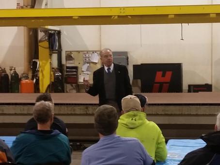 Senator Chuck Grassley Visits MTS