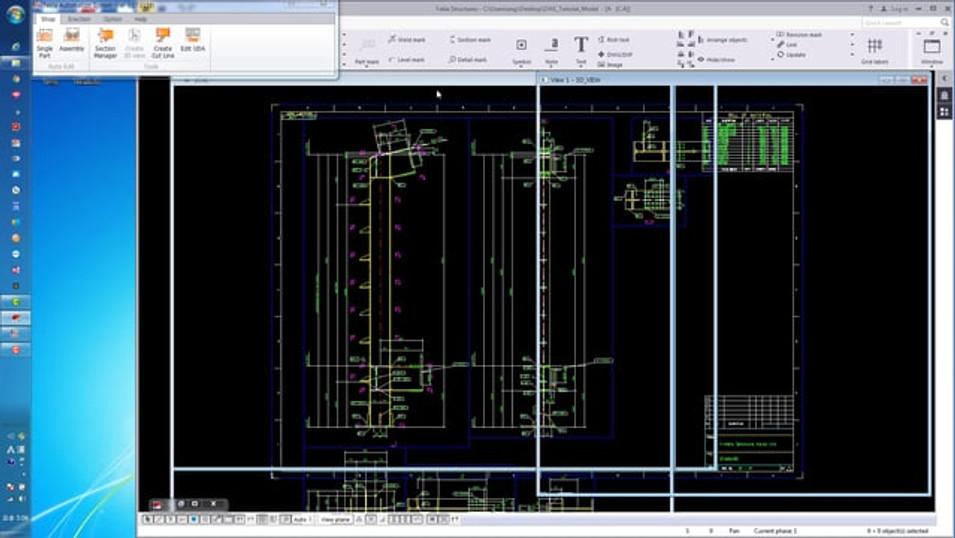 チュートリアル2 - 製品図の断面ビューを設定