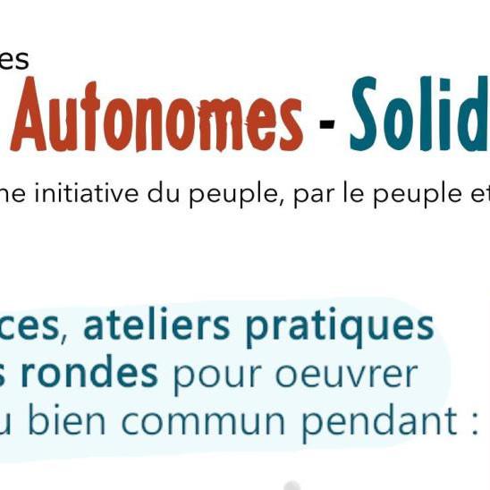 Rencontre les Autonomes-Solidaires (dates reportées suite à l'aggravation sanitaire)