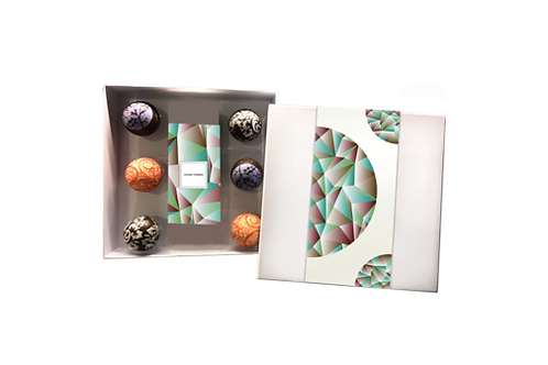 Chocolate Sphere Ornament Gift Set