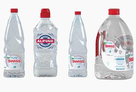 Mineral Water Bottle 3D CGI Visuals