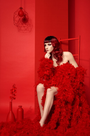 Editorial: JUST RED By Pascal LATIL For JUST HAIR Coiffure