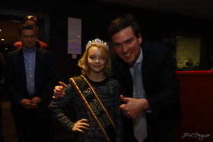 Mini miss Gent (Belgium) New Year's reception with our mayor