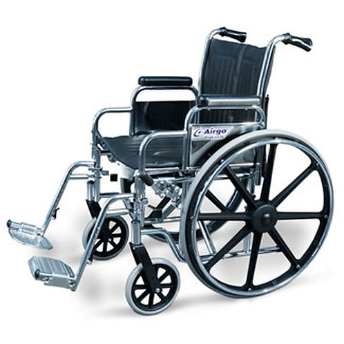 AMG 700-631 WHEELCHAIR WITH DESK ARM & SWING-AWAY FOOTRESTS 22""