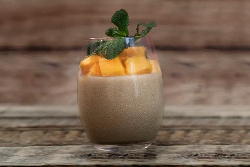Tapioca au lait de coco & coulis de mangue au Combawa