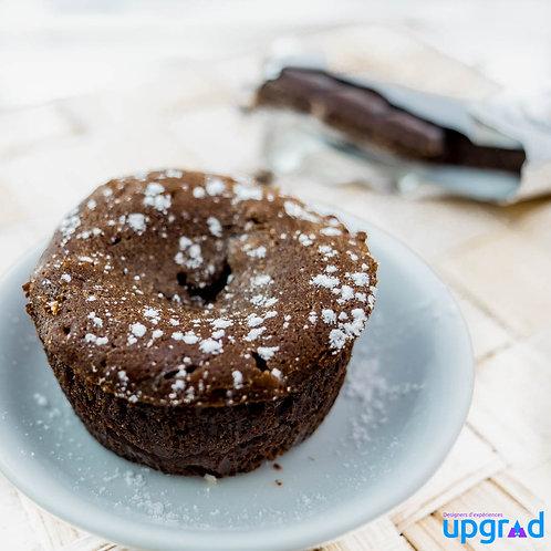 Fondant au chocolat au lait & caramel au café du Cameroun