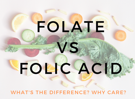 Folate vs Folic Acid- Your choice of supplement?