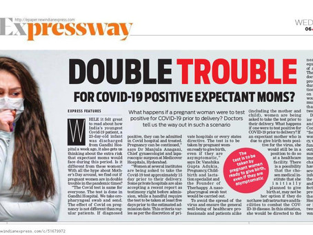 Double Trouble for COVID-19 positive expectant moms?