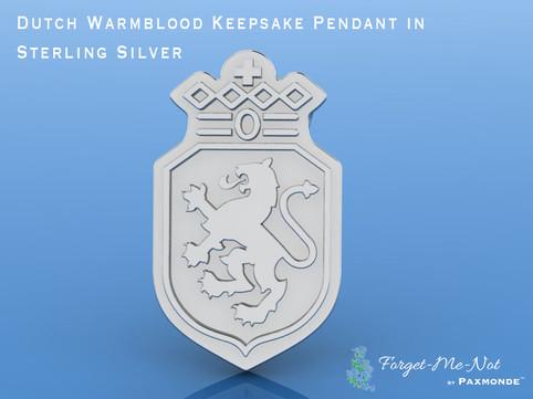 Dutch Warmblood Keepsake Pendant in Sterling Silver