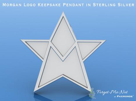 Morgan Logo Keepsake Pendant in Sterling Silver