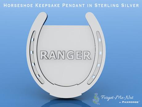 Horseshoe Keepsake Pendant in Sterling Silver