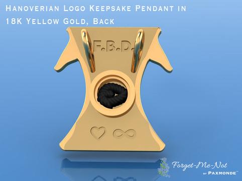 Hanoverian Logo Keepsake Pendant in 18K Yellow Gold, Back