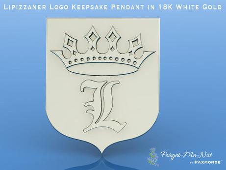 Lipizzaner Logo Keepsake Pendant in 18K White Gold