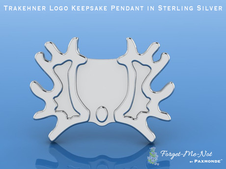 Trakehner Logo Keepsake Pendant in Sterling Silver