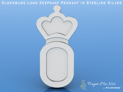 Oldenburg Logo Keepsake Pendant in Sterling Silver