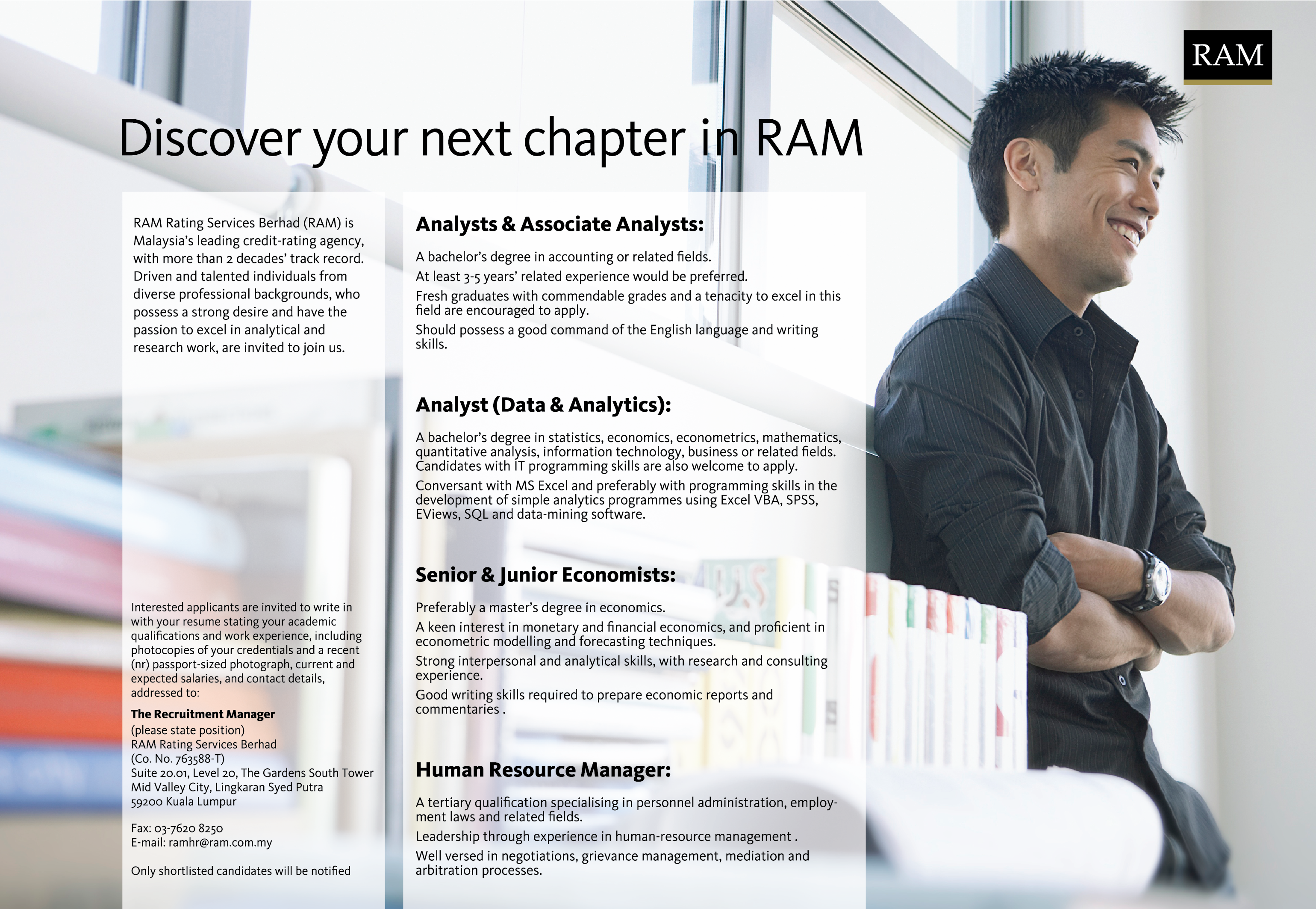 RAM recruitment ad