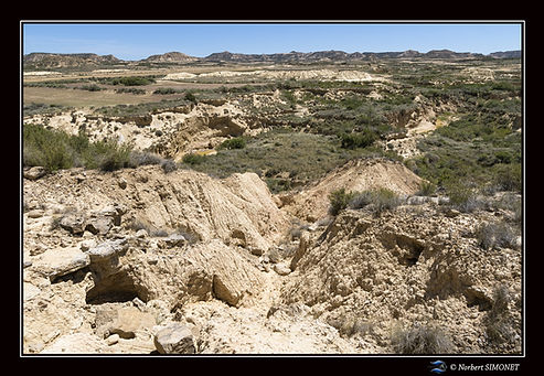 Canyon en eau  Bardenas 4 - Paysage - Ca