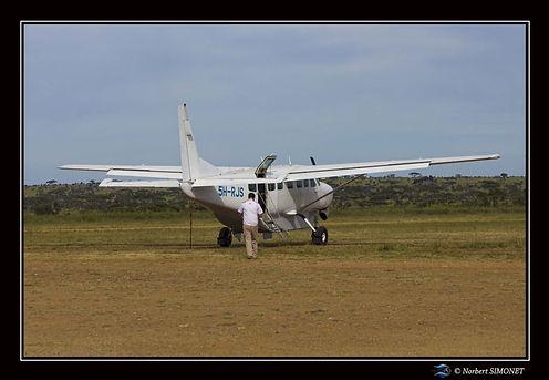 Avion et pilote aérodrome Seronera - Cad