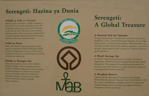 Panneau centre d'information de seronera
