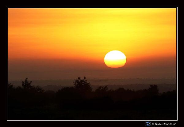 Couché de soleil sur les plaines de kia