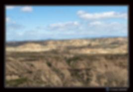 Vue d'un point haut Paysage - Bardenas -