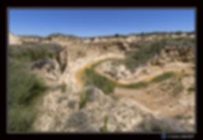 Canyon en eau  Bardenas - Paysage - Cano