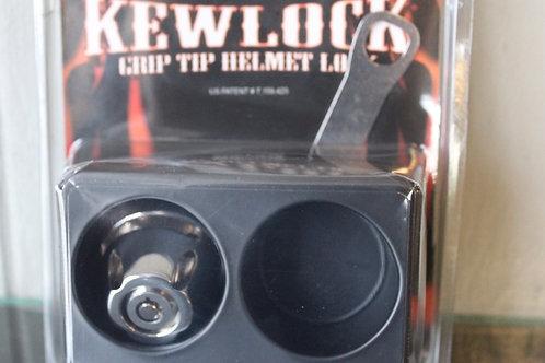 Grip end helmet lock