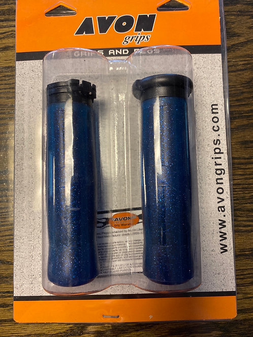 Avon Old School Coke Bottle Grips Blue Sparkle