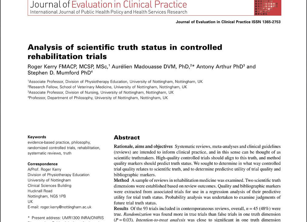 Analysis of Scientic Truth Status