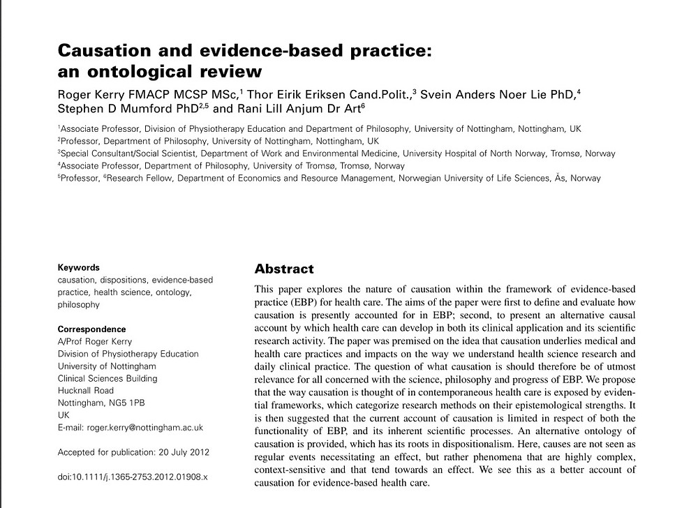 causation and EBP