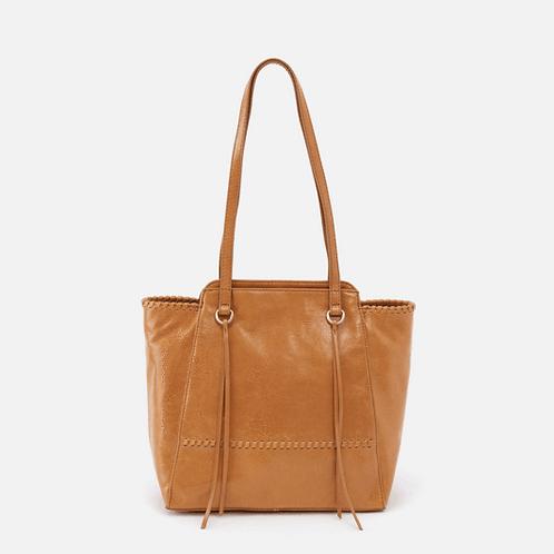 Praise Honey Leather Tote Bag