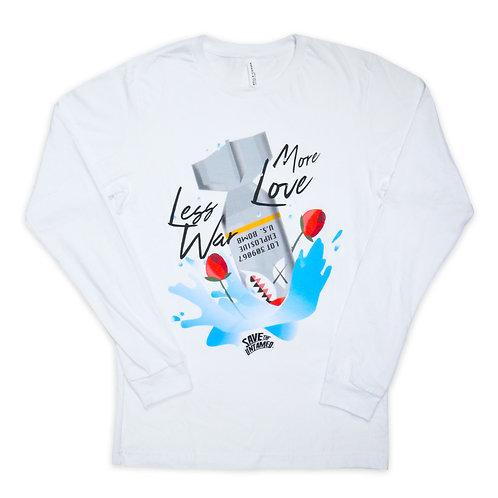 SAVE THE UNTAMED Less War More Love Long sleeveT-shirts