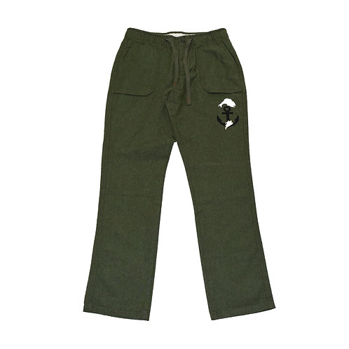 Bakery HNY Fishing logo Stretch chino Pants