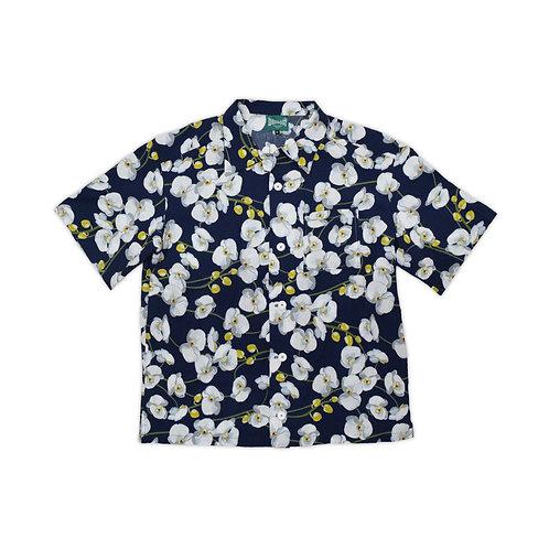 BUILD467 Flower leisure Short sleeve Pocket Shirts