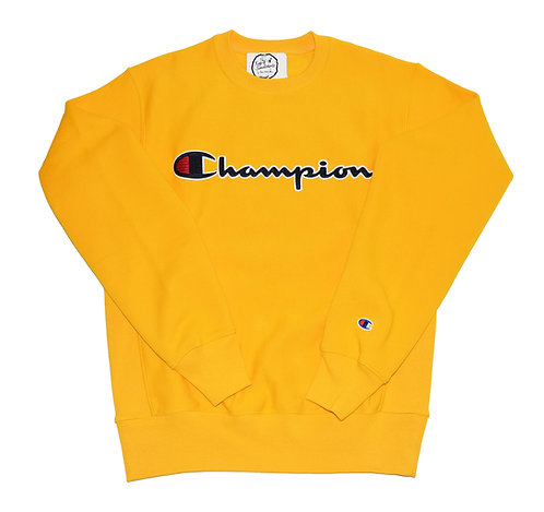 Champion US REVERSE WEAVE EMBROIDERED SCRIPT logo crew sweat