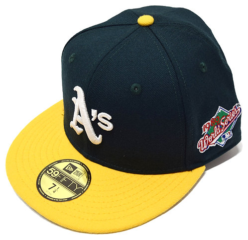 """NEW ERA """"Oakland Athletics Fitted Cap""""(Sidepatch 有りWorld Series 1989"""