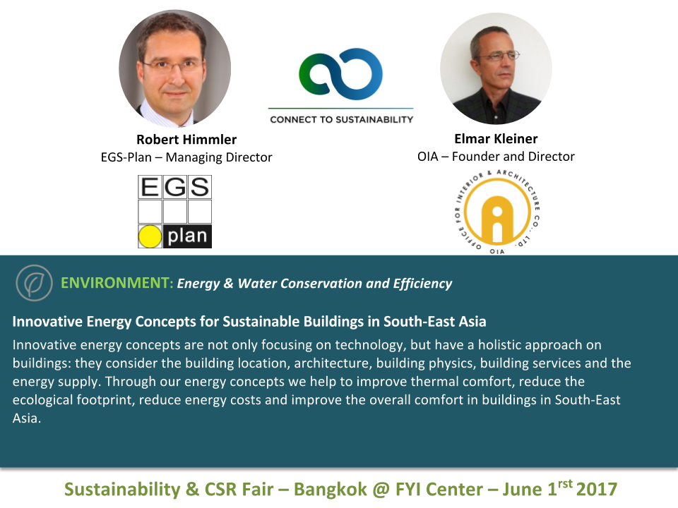 Innovative Energy Concepts for Sustainable Buildings in SE Asia