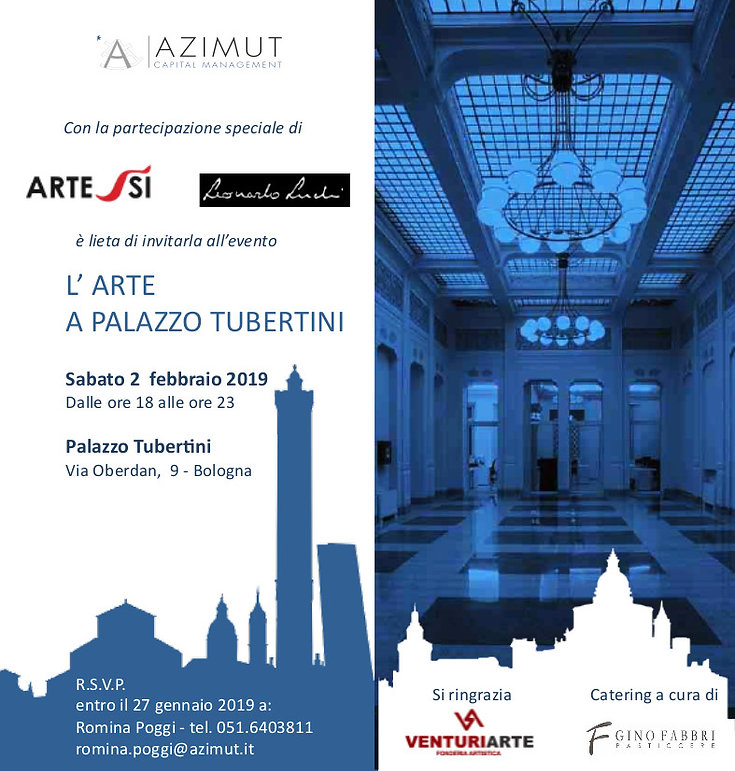 Invito Evento L 'arte a palazzo Tubertin