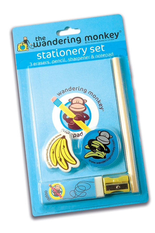 Wandering Monkey Stationery Set